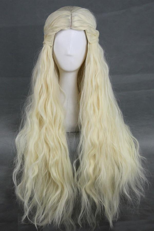Game of Thrones Daenerys Targaryen Mother of Dragons Cosplay Wig Blonde Hair