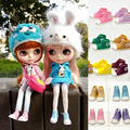 11 pairs 3.5cm fashion classic  ABS plastic doll sport shoes accessories set for 1/6 BJD blyth Pullip Licca Azone Barbi dolls