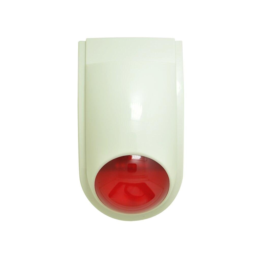 (1 PCS) 9-16VDC indoor wired siren with flash lamp security alarm accessories Buzzer strobe siren anti theft free shipping anti cut siren alarm dc 9 12v