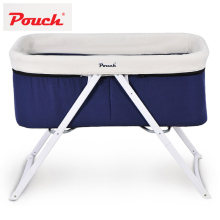 Pouch Baby Travel Crib Cot Infant Fold Bed Newborn Dual Canopy Indoor & Outdoor Travel Bassinet With Port Bag(China)