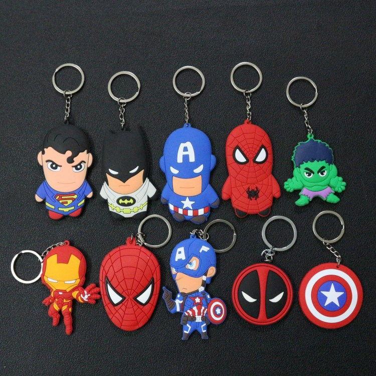Conscientious 2019 New Anime Cartoon Key Cover Cute Garfield Owl The Avengers Alliance Hero Keychain Silicone Holder Key Ring Cat Cap Chain To Be Highly Praised And Appreciated By The Consuming Public