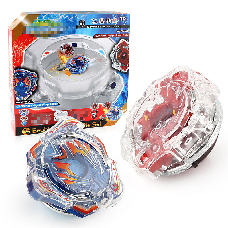2018 Bleybade Burst Lot 3th Generation Gyro Toys Upgraded Version Gyroscope Disk Competitive Arms Dual Handle Bayblades Launcher beyblade burst with launcher handle