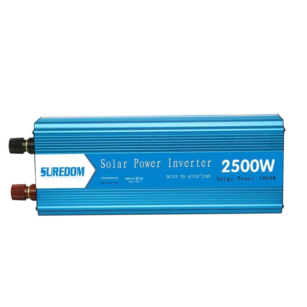 2500W Pure Sinusoidal Inverter Solar photovoltaic Inverter Multifunctional Travel Power Supply Control 2 universal socket
