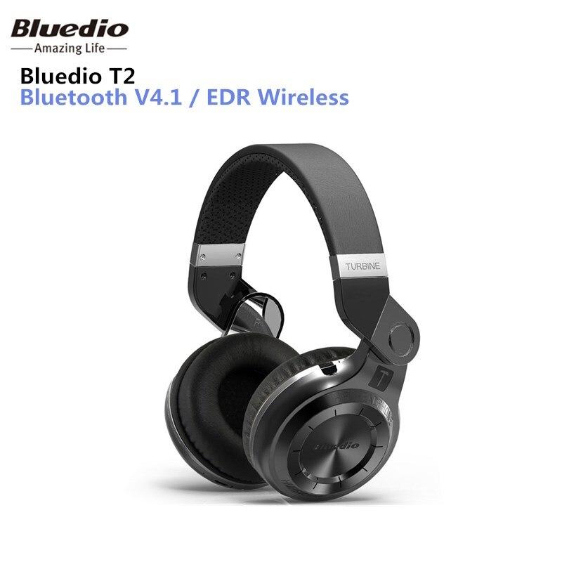 Bluedio T2 Bluetooth Stereo Kopfhörer Drahtlose Faltende Kopfhörer Eingebaute Mic BT4.1 Leistungsstarke Bass Über-ohr Kopfhörer