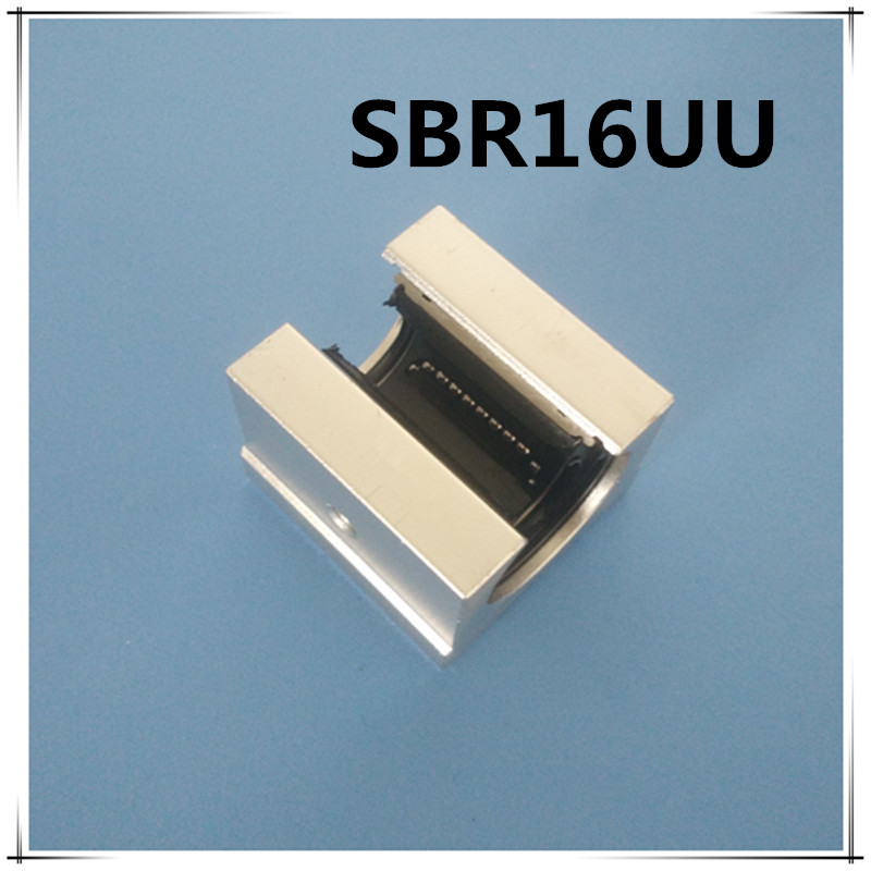Free shipping SBR16UU SBR16 16mm Linear Ball Bearing Block CNC Router free shipping sc16vuu sc16v scv16uu scv16 16mm linear bearing block diy linear slide bearing units cnc router