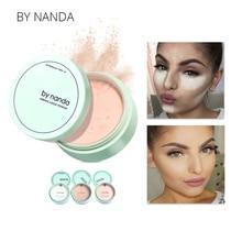 От NANDA 3 цвета полупрозрачная прессованная пудра с пуховкой гладкая основа для макияжа лица водостойкая рассыпчатая пудра корейские наборы для макияжа