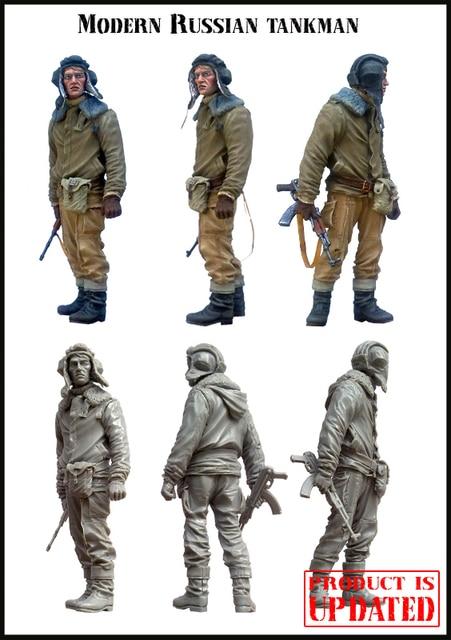 [Tuskmodel] 1 35 escala modelo de figuras de resina kit Russa tankman E11