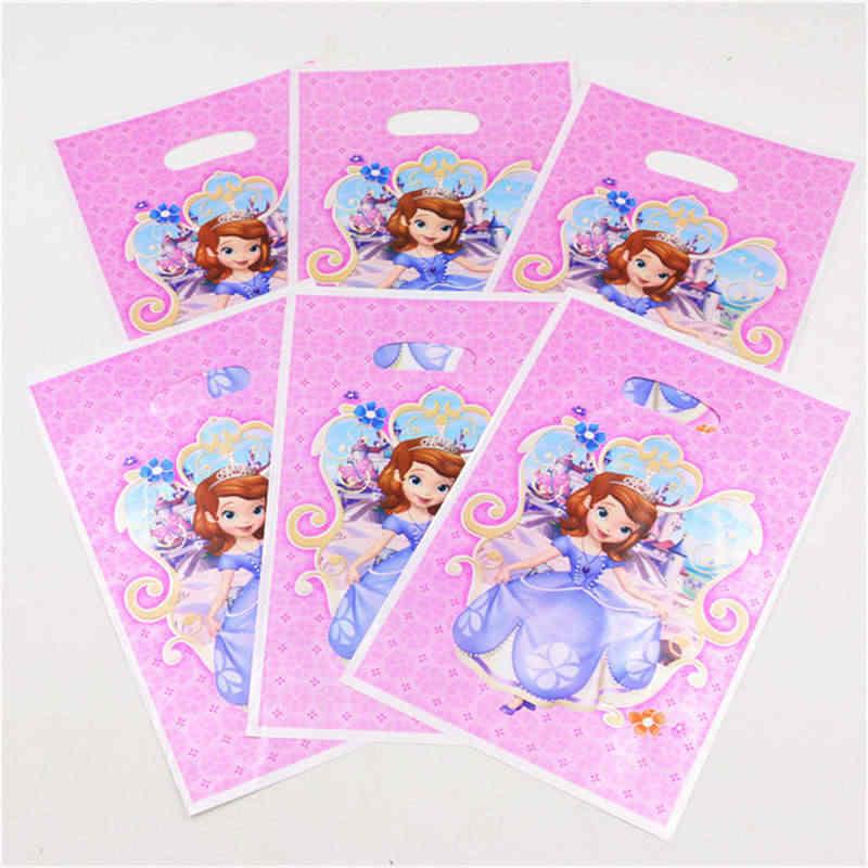 Disney Princess Sofia Theme กระดาษถ้วยผ้าเช็ดปากฟางผ้าปูโต๊ะงานแต่งงานเด็กวันเกิดของขวัญแบนเนอร์ Candy กล่อง SUPPLY