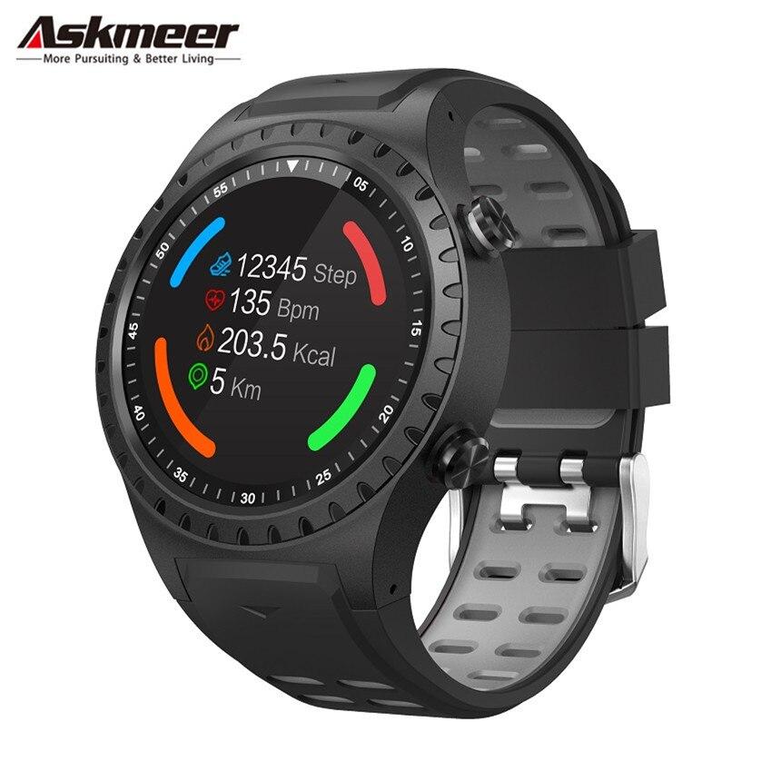 ASKMEER M1 GPS montre intelligente hommes étanche Bluetooth cadran appel moniteur de fréquence cardiaque Multi Sport Smartwatch pour Apple Huawei Xiaomi