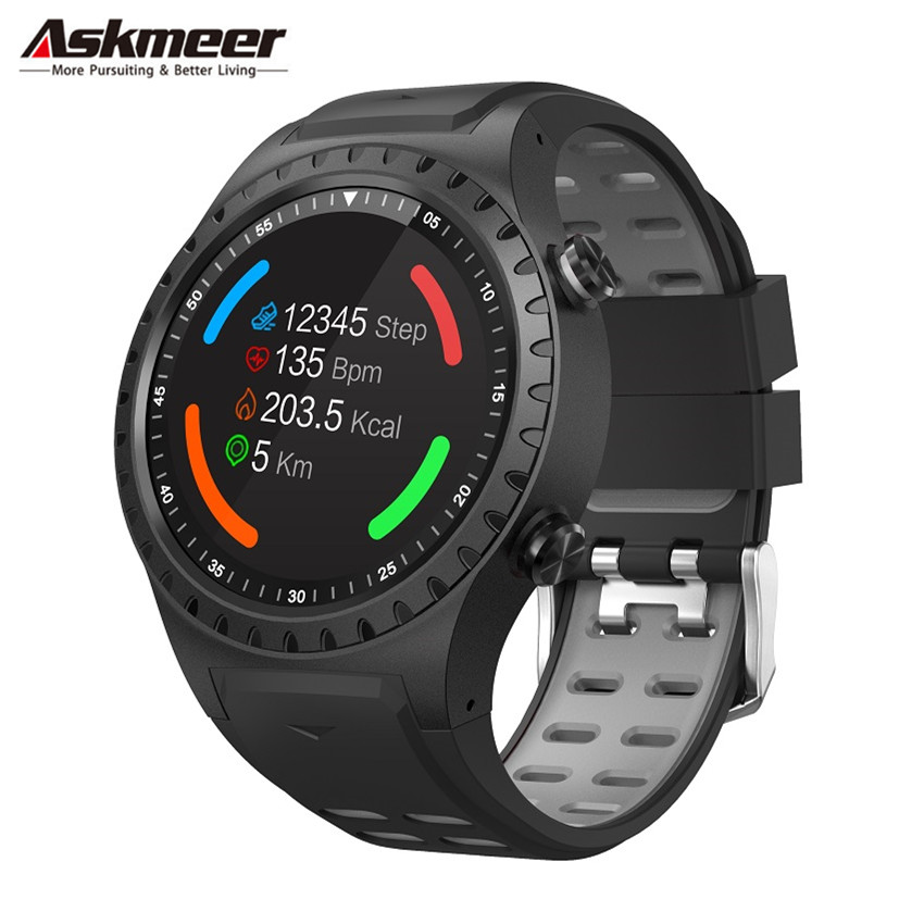 ASKMEER <font><b>M1</b></font> GPS Smart <font><b>Watch</b></font> Men Waterproof Bluetooth Dial Call Heart Rate Monitor Multi Sport Smartwatch for Apple Huawei Xiaomi image