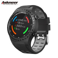 Askmeer m1 gps relógio inteligente homem à prova dwaterproof água bluetooth dial chamada monitor de freqüência cardíaca multi esporte smartwatch para apple huawei xiaomi