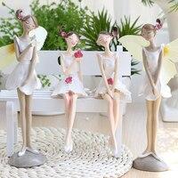 Poli sentado chica flor de la señora hermana hermana deco fairy angel wings de pie sala de estar decorativos regalos de boda