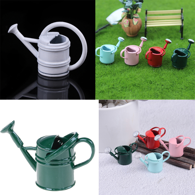 1:6//1:12 Metal Watering Can Doll House Miniature Garden Accessory Home DecoBIUS