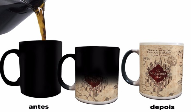 hogwarts mugs marauders map morphing ceramic coffee mug magical mugs
