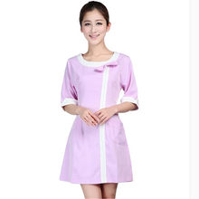 Medical uniforms 2019 nursing scrubs Clothes For Beauty Shop Short Sleeve Doctor Clothing uniformes hospital women Work dress(China)