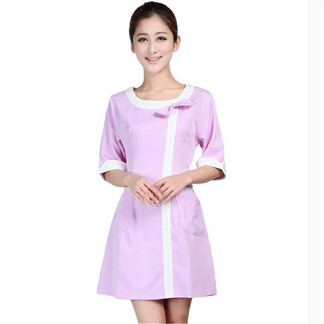 Medical uniforms 2019 nursing scrubs Clothes For Beauty Shop Short Sleeve Doctor Clothing uniformes hospital women Work dress