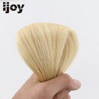 IJOY Плоским Наконечником Реми Пряди человеческих волос для наращивания бразильский Прямо Keration настоящие волосы 20 #613 европейский светлые во