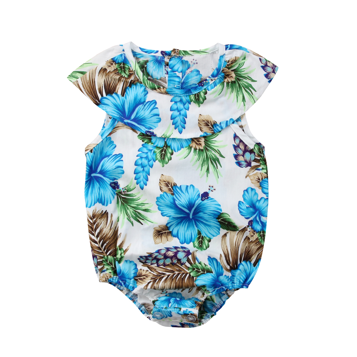 a43c3fe283a Summer Infant Kids Hawaii Clothing Baby Girls Toddler Floral Romper  Jumpsuit Clothes Outfits-in Rompers from Mother   Kids on Aliexpress.com