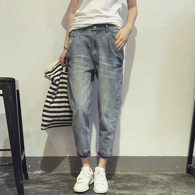 Large Size 5XL Jeans Women Elastic Denim Harem Pants Spring Summer Female Fashion Retro Oversized Casual Ankle-Length Trousers