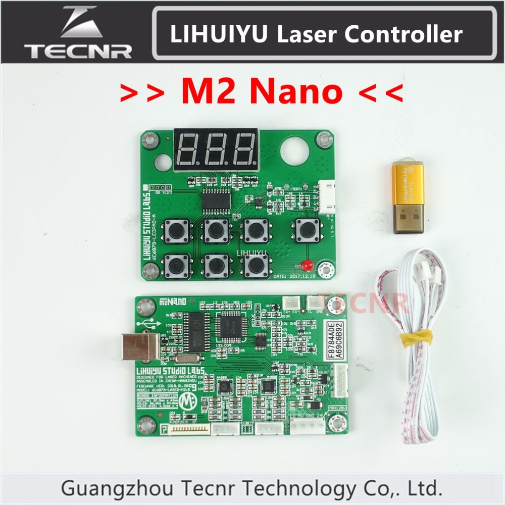 TECNR LIHUIYU Main Board M2 Nano Co2 Laser Control System + Dongle B + Control Panel Board + LaserDraw CorelLaser 3020 3040 K40