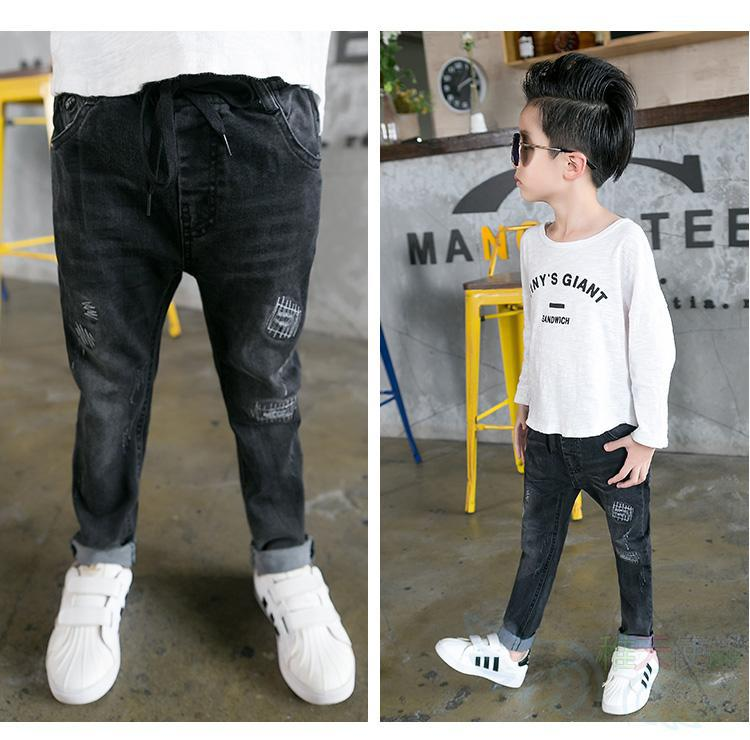 ae7dee79b365 2017 Spring Kids Jeans Boys Fashion Jeans Children Jeans for Boys Casual Denim  Pants 5 12Y Toddler High Quality-in Jeans from Mother   Kids on ...
