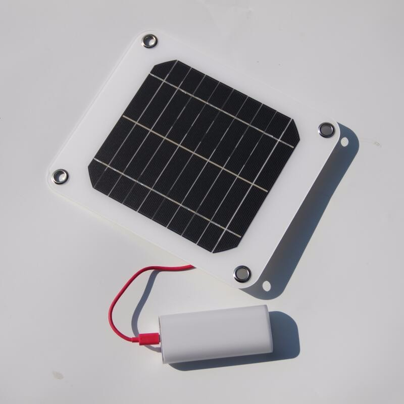 BUHESHUI 5W 5V Portable Solar Panel Charger Outdoor USB Digital ...