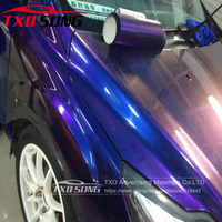 Dark blue blue to Purple Chameleon glitter pearl Vinyl Wrap Film With Air free bubbles Chameleon glitter Film With 4 sizes