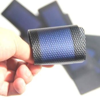 1Pc 0.3W 2V Waterproof Foldable Solar Panel DIY Battery Cell Flexible Amorphous Silicon Membrane Solar Charging Panel 1