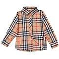 2017 nuevos muchachos de la manera camisas de alta calidad de la tela escocesa diseño niños clothing venta caliente niños ropa de manga larga del estilo de inglaterra