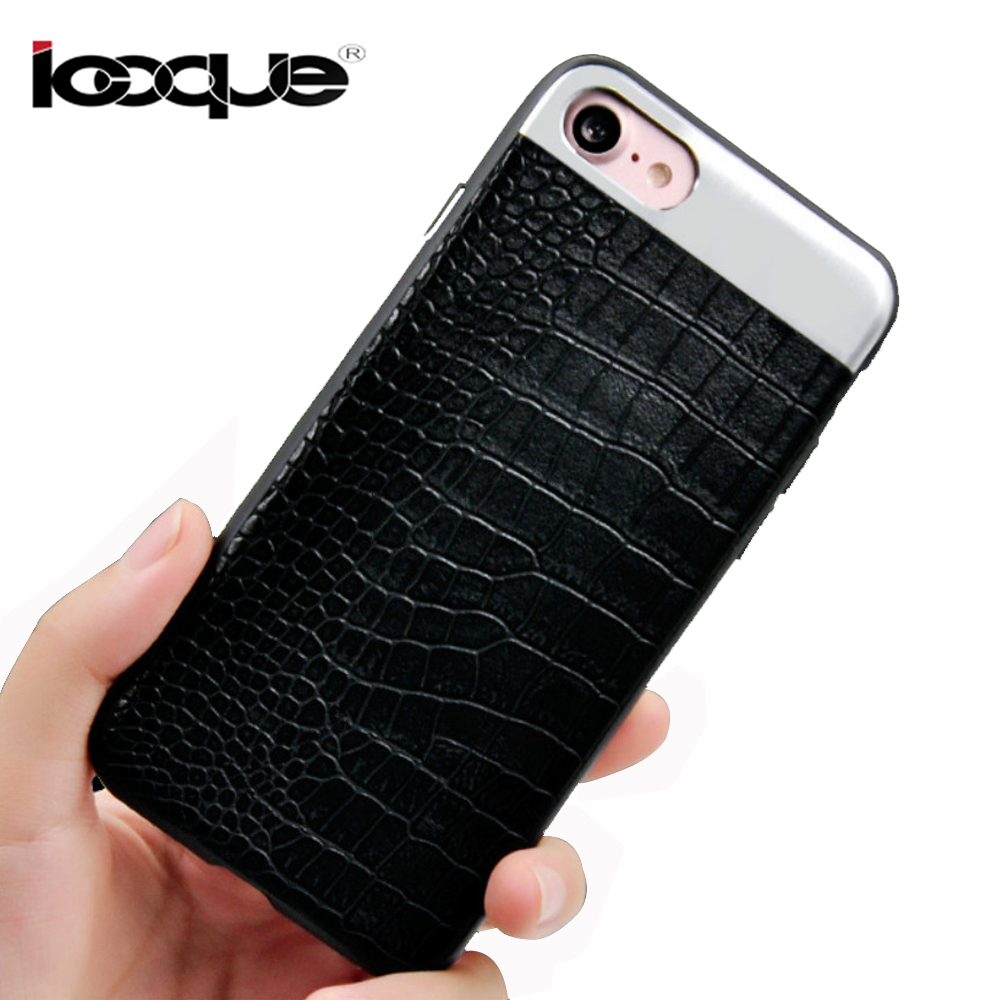 case For iphone 7/7plus case For apple iphone 8/8plus case phone cover for iPhone8 plus capa luxury black PC+PU High Qualit
