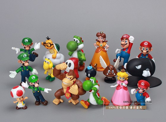 Super Mario Bros 1set 1 2 5 yoshi dinosaur font b Figure b font toy Super