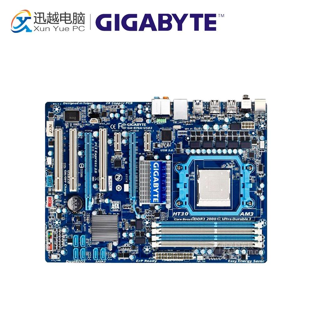Gigabyte GA-870A-USB3 Desktop Motherboard 870 Socket AM3 DDR3 SATA3 USB3.0 ATX used motherboard mainboard for msi 870a fuzion socket am3 ddr3 16gb usb2 0 usb3 0 atx board