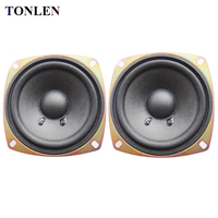 TONLEN 2PCS 4 Inch Full Range Speaker 4 Ohm 10 W Soundbar Loudspeaker DIY HIFI Bluetooth