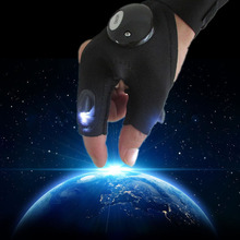 2016 New Multifunctional LED Flashlight Gloves Breathable Outdoor Sports Lighting Luminous