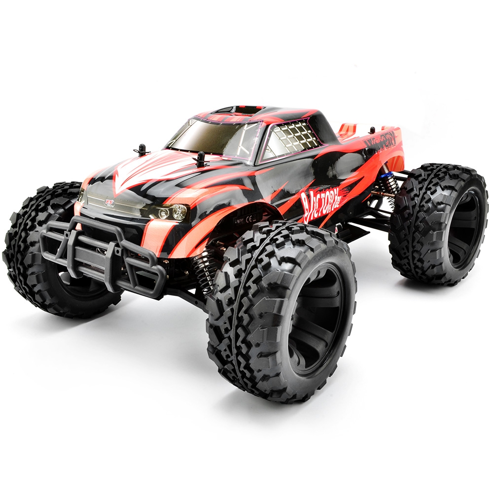 High speed rc car 1 10 scale 2 4g 4wd rc electrical truck brushless motor
