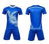 2018 New Men Soccer Jerseys Uniforms Sets Short Sleeved Jersey Shorts Shirts Football Kits Sports DIY