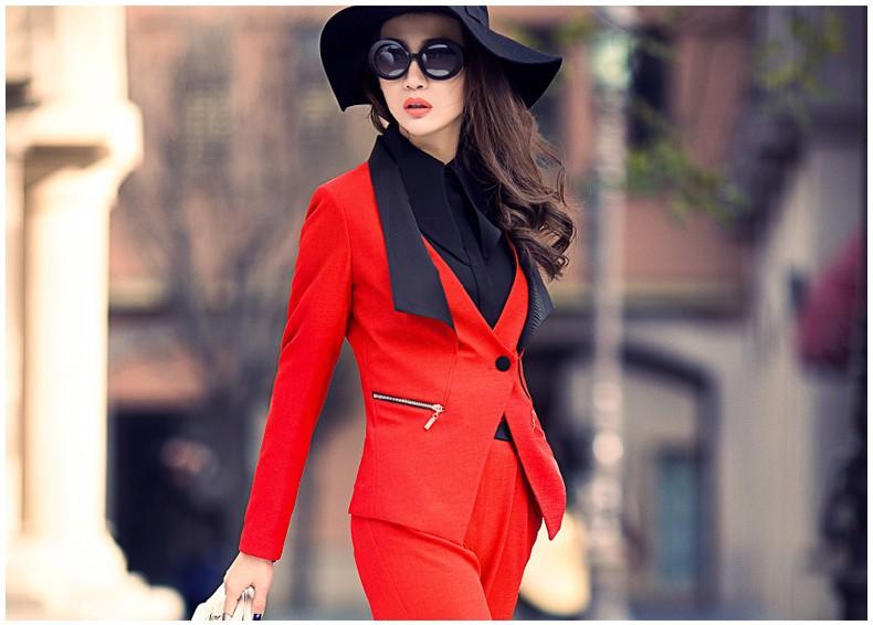 4585c78a1 Envío libre Ocupación ropa un grano de la hebilla de la solapa de la  chaqueta de traje traje de negocios temperamento femenino de manga larga de  ...