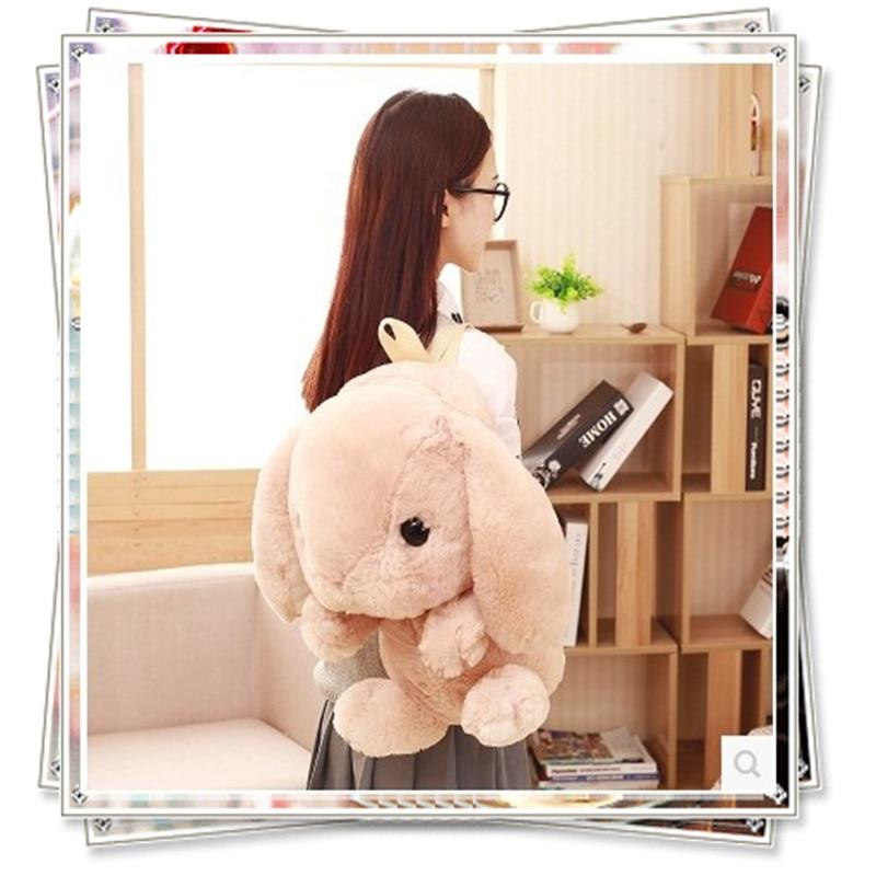 Bunny school bag toys for children bunny  kawaii plush rabbit mamas papas soft toys stuffed animal birthday gifts