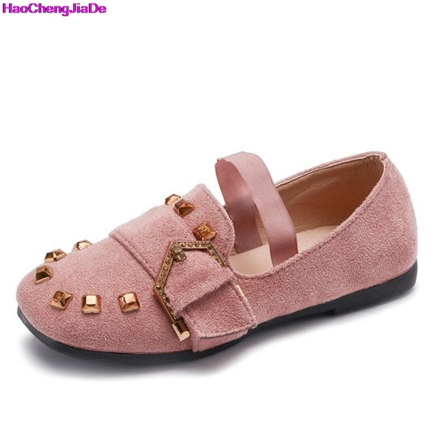 f93d2473ffe Haochengjiade children suede shoes for princess girls loafers toddler girls  party flat shoes with rivet children