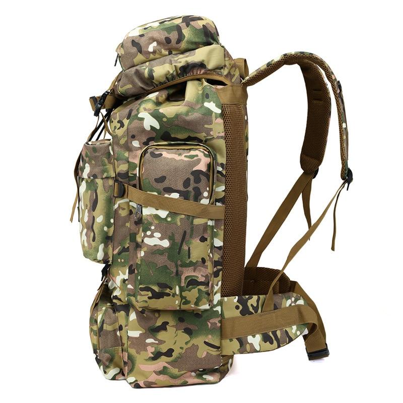 70L sac à dos en plein air Camping sac étanche alpinisme randonnée sacs à dos Molle Sport sac à dos d'escalade - 3