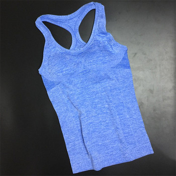 Summer Women Yoga Top Gym Comfortable Sports Sleeveless T Backless Shirts Sport Fitness Gym Shirts Running Clothes Singlets Tops 3