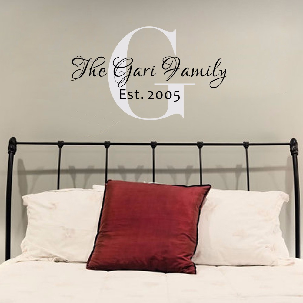 Family Monogram Wall Decal Personalized Wall Decal Name Wall Decal - Family monogram wall decals