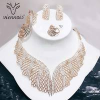 Viennois Mix Silver/ Rose gold Color Stud Earrings Big Hollow Jewelry Set for Women African Jewelry Sets New