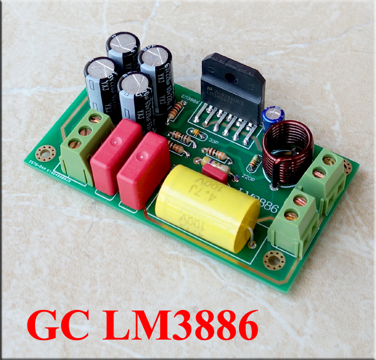 New version LM3886 Gaincard Double gold-plated PCB 82MMX32MM Ultra-fine  sound quality high-quality DIY kit Board
