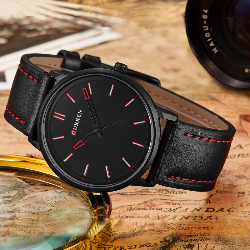 Luxury Brand Relogio Masculino Date Leather Casual Watch Men Sports Watches Quartz Military Wrist Watch Male Clock Saat CURREN