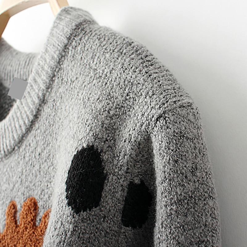 HTB1YtLajHsTMeJjSszdq6AEupXaz - Ugly Christmas Deer Sweater Women Winter 2017 Cotton O Neck Gray Jumper Knitted Pullover Sweater PTC 288