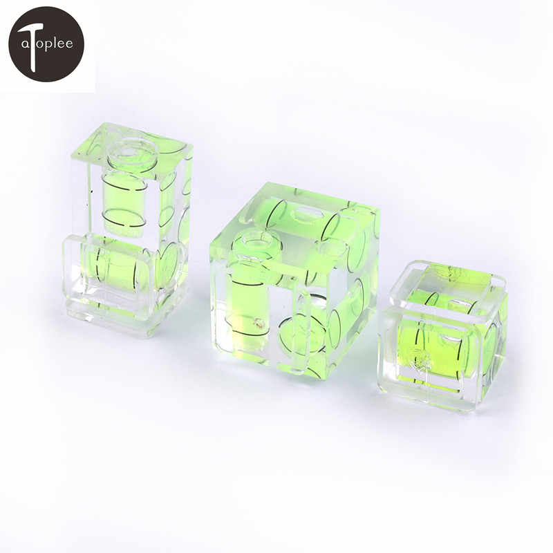 1 Pcs Mini Satu/Dua/Tiga Dimensi Bubble Spirit Level For Camera Tingkat Adaptor untuk Kamera Ukuran Alat