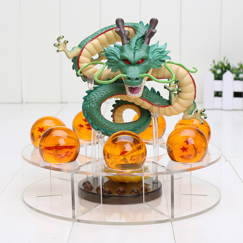 15 cm Dragon Ball Z Action-figuren Shenron Dragonball Z Figuren Set Esferas Del Drachen + 7 stücke 3,5 cm bälle + Regal Figuras DBZ