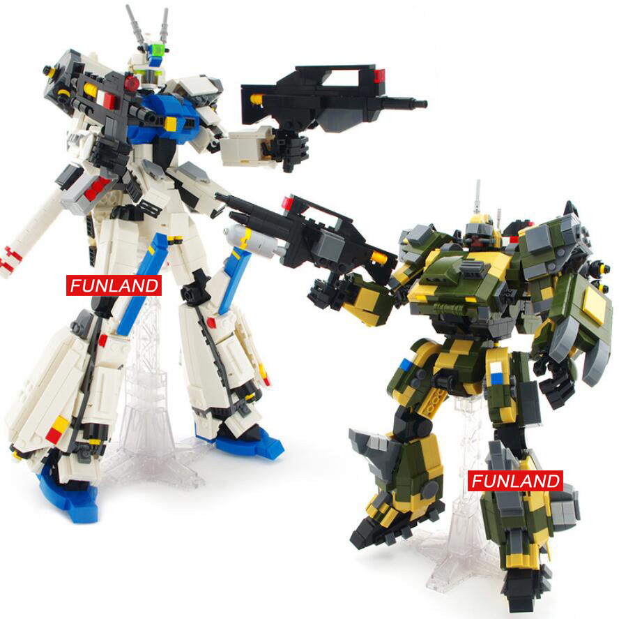 Hot super gundam robot Forseti mech building block Hound battle mecha model bricks assemblage toys collection for boys gifts-in Stacking Blocks from Toys & Hobbies    1