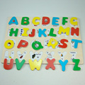 English Alphabet Board and number wood toys Wooden Panel Toys Jigsaw Puzzle 3d Education Preschool Toys For Children